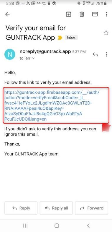 GUNTRACK email