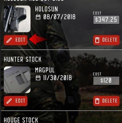 Accessories in GUNTRACK